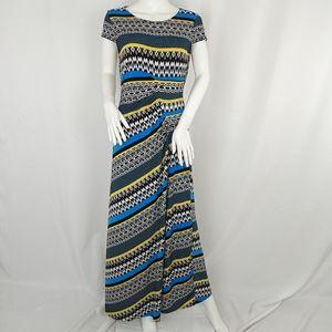 Eci Geometric Print Maxi Dress